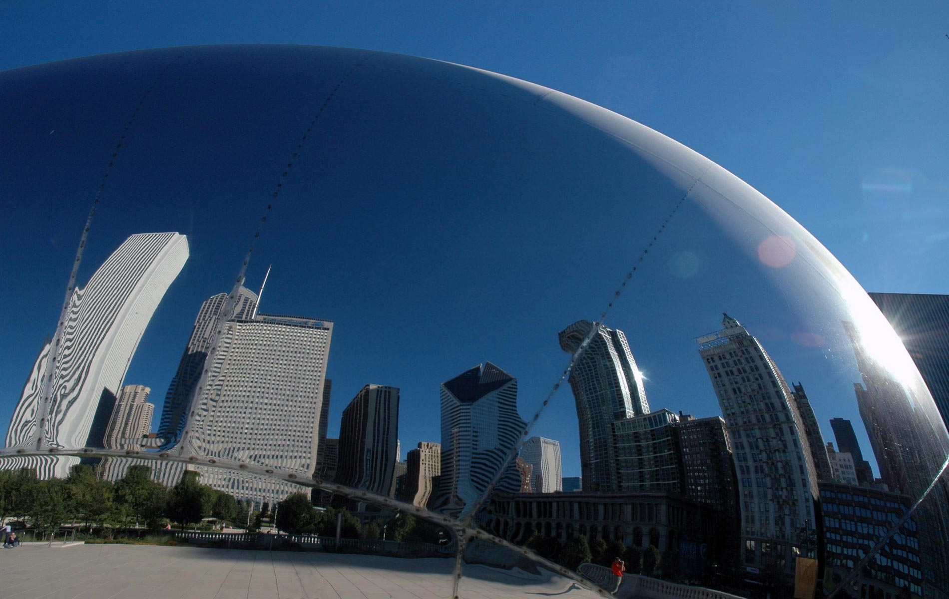 CHICAGO - Millennium Park -  Tha Cloude Gate - for
