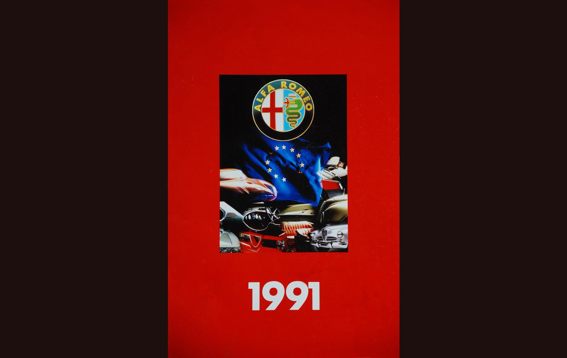 ALFA ROMEO - COVER CALENDAR 1991 -