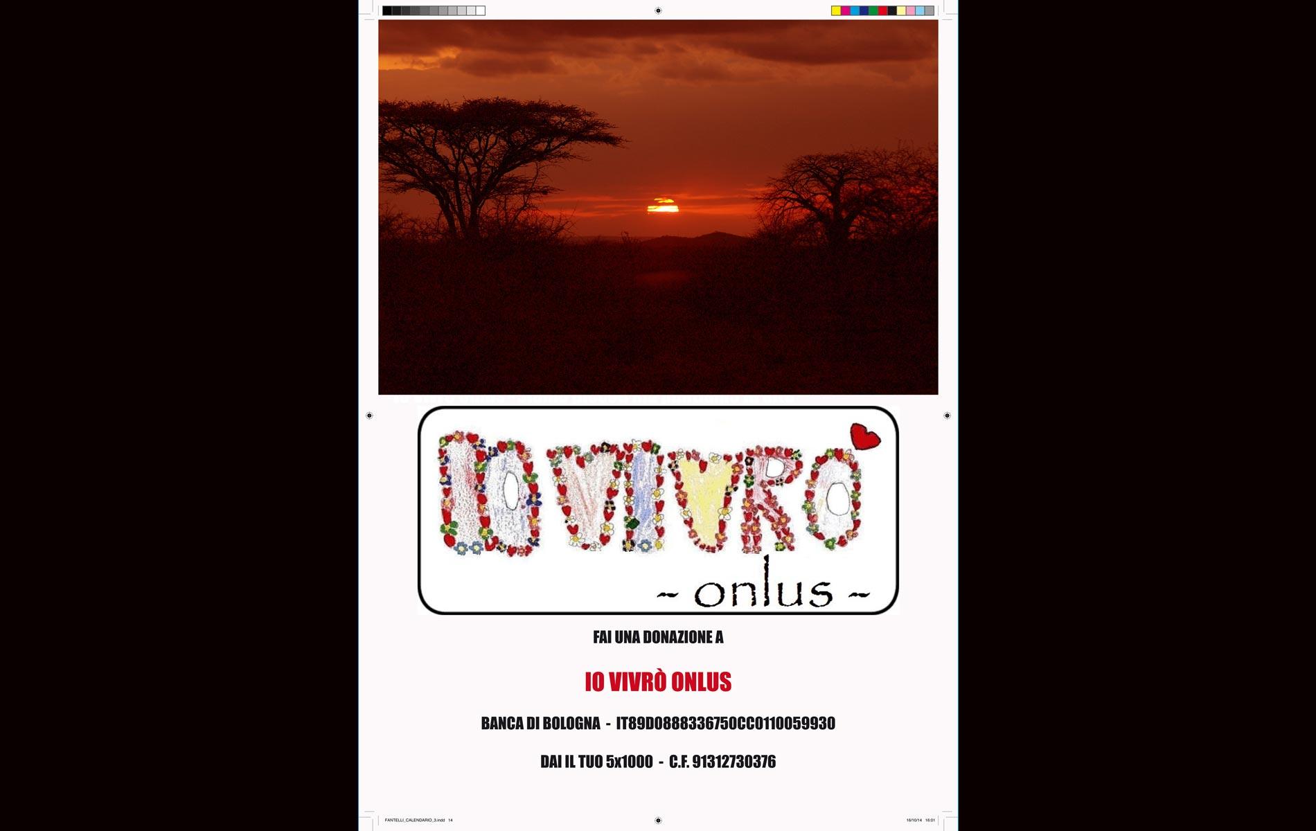 """""""IO VIVRO' """" - onlus - 2015 Calendar - Last Page  - © Graziano Villa"""