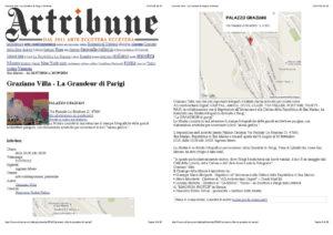 Pagine da Graziano Villa - La Grandeur di Parigi | Artribune_2_Pagina_1_doppia_LOGO_1