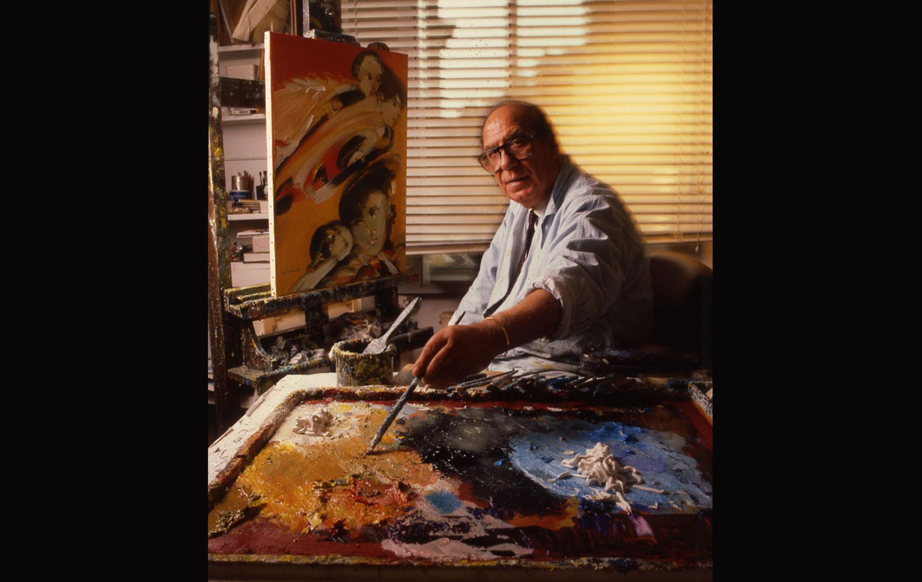 REMO BRINDISI - Italian Painter - Portraits Exhibition - © Graziano Villa