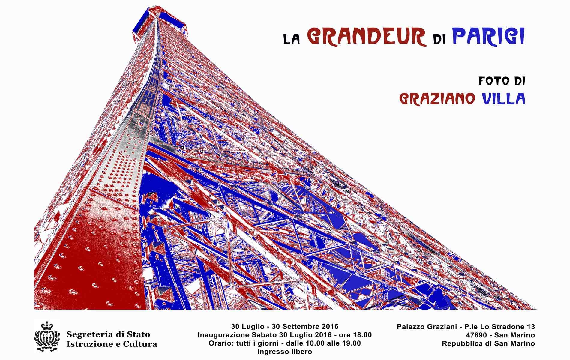 SAN MARINO_MOSTRA_La GRANDEUR di PARIGI - Cover del Catalogo - © Graziano Villa