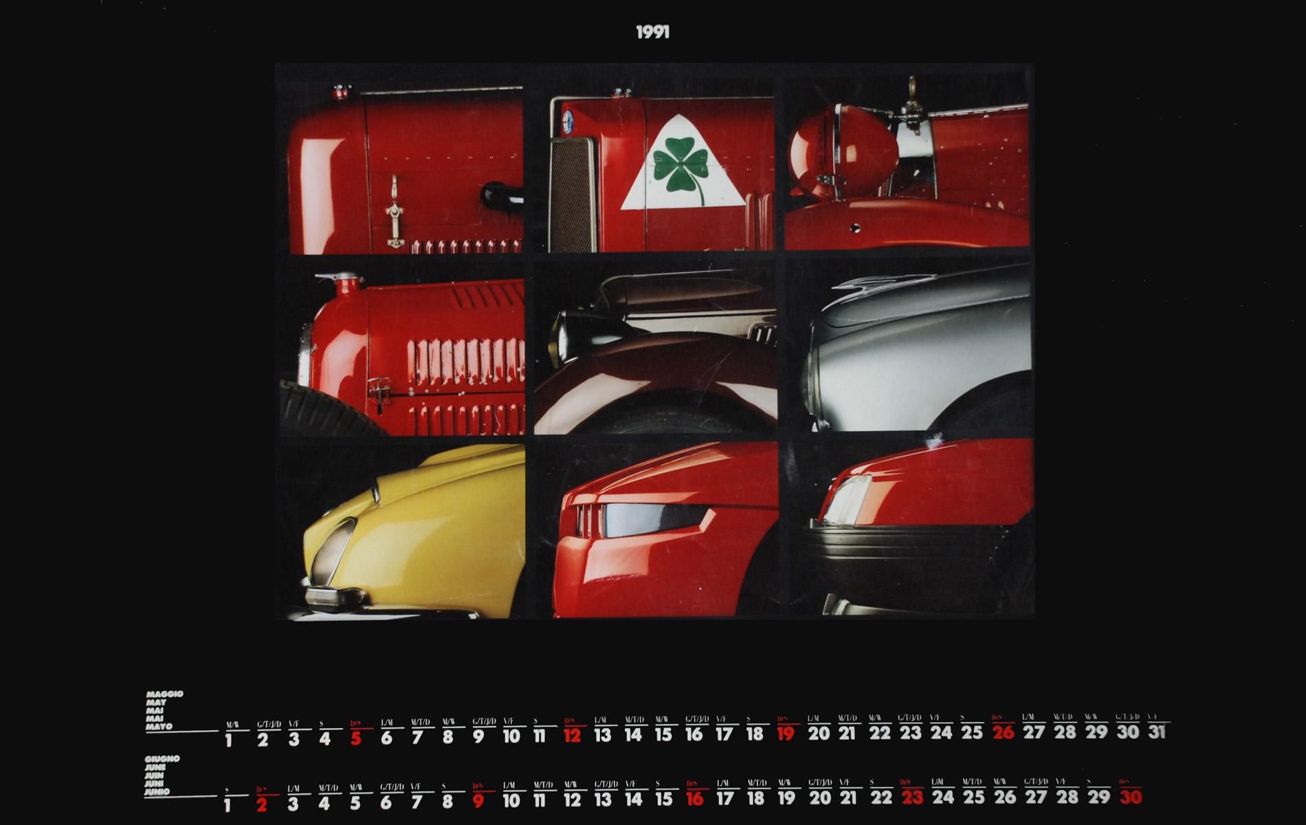 ALFA ROMEO - 1991 CALENDAR - © Graziano Villa