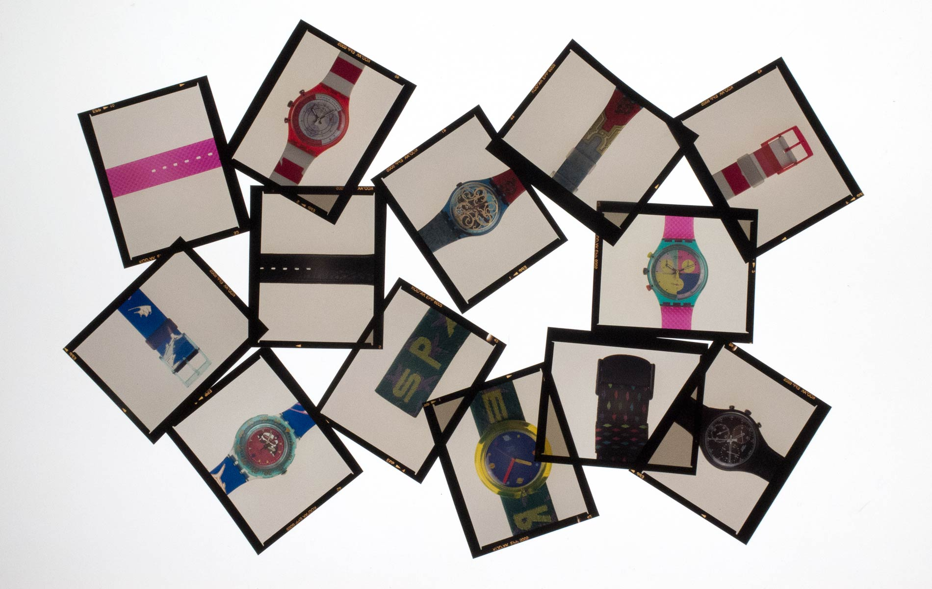 SWATCH PUZZLE Collection -  selection of color slides to dial the name - 120 size - © Graziano Villa