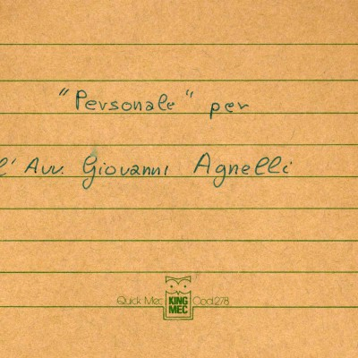 1986 Greeting Cards for Giovanni Agnelli with Juventus Football Team