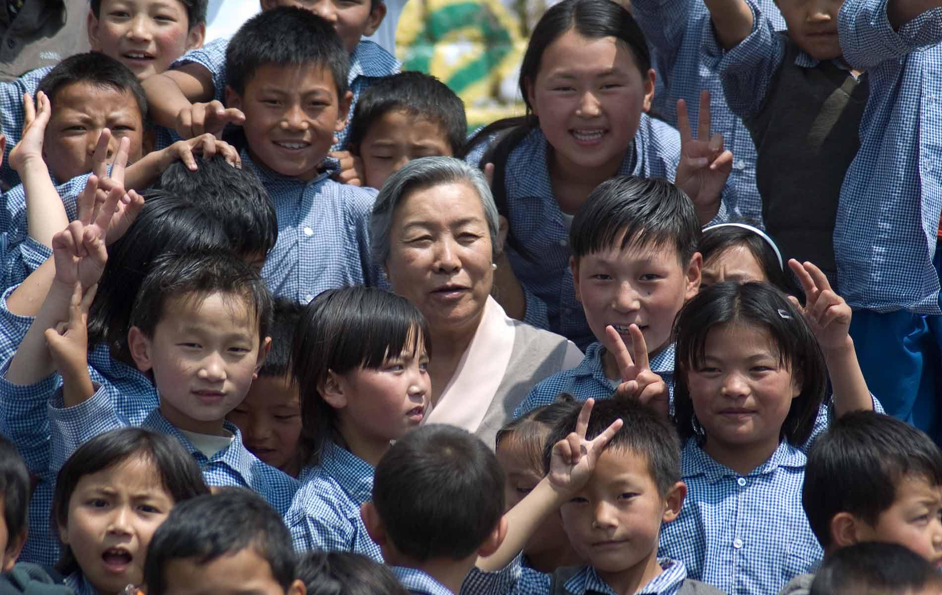 M.me PEMA (H.H. Dalai Lama sister) - Site manager of the Tibetan Children Village - Daramshala - Punjab - India - © Graziano Villa